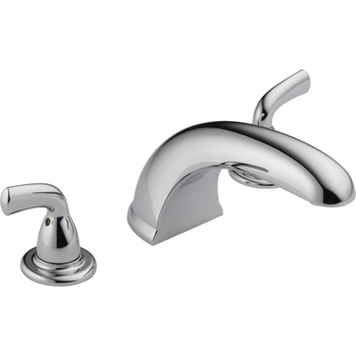 Delta Widespread Chrome Roman Tub Filler Faucet with Valve D929V