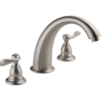 Delta Windemere Stainless Steel Finish Widespread Roman Tub Faucet w/Valve D893V
