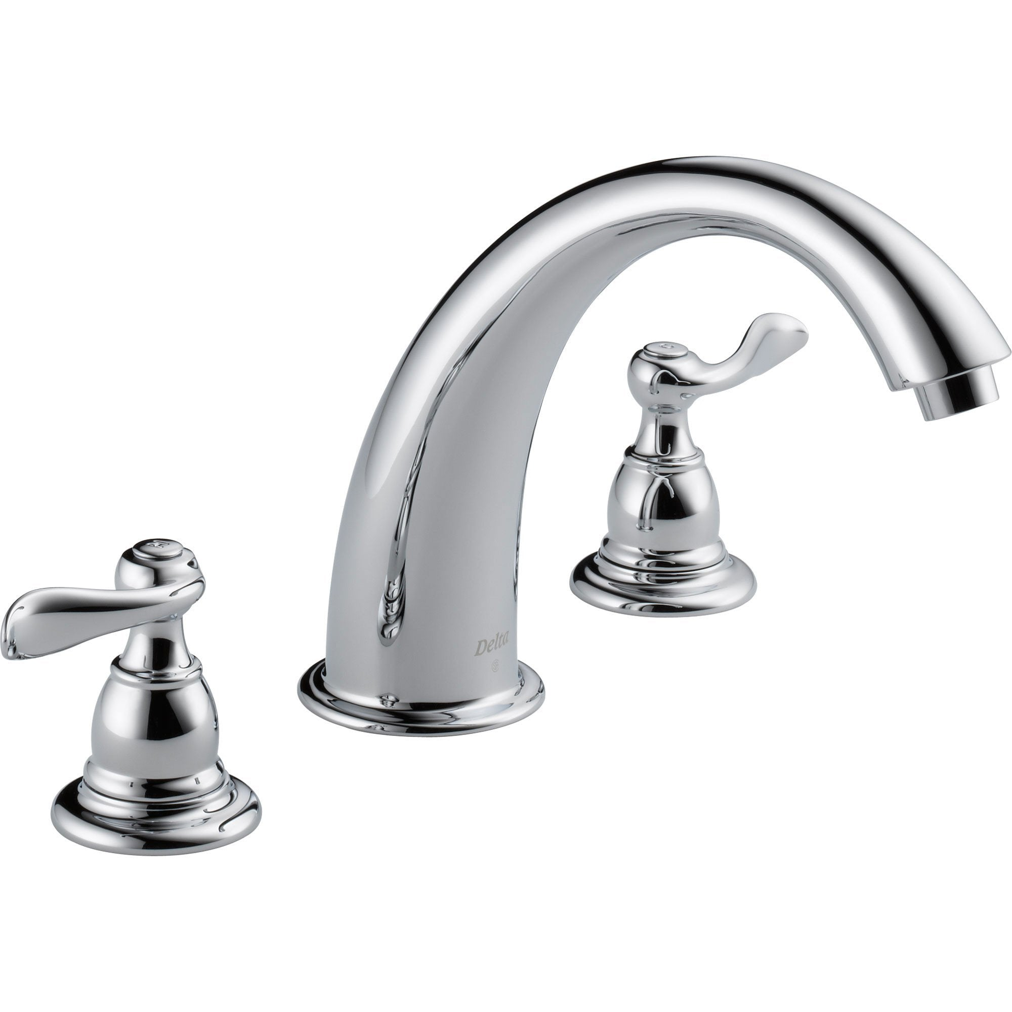 Delta Windemere Chrome Widespread Deck-Mount Roman Tub Faucet with Valve D891V