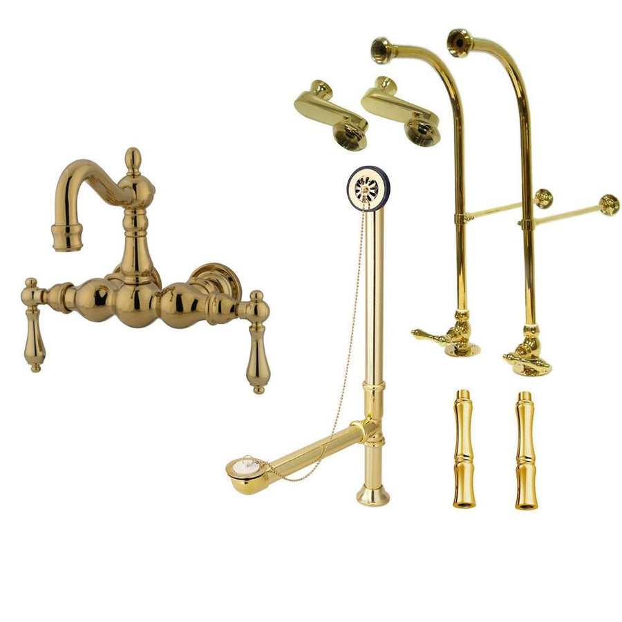 Clawfoot Tub Faucet Kit - Complete with Faucet, Drain, Supplies ...