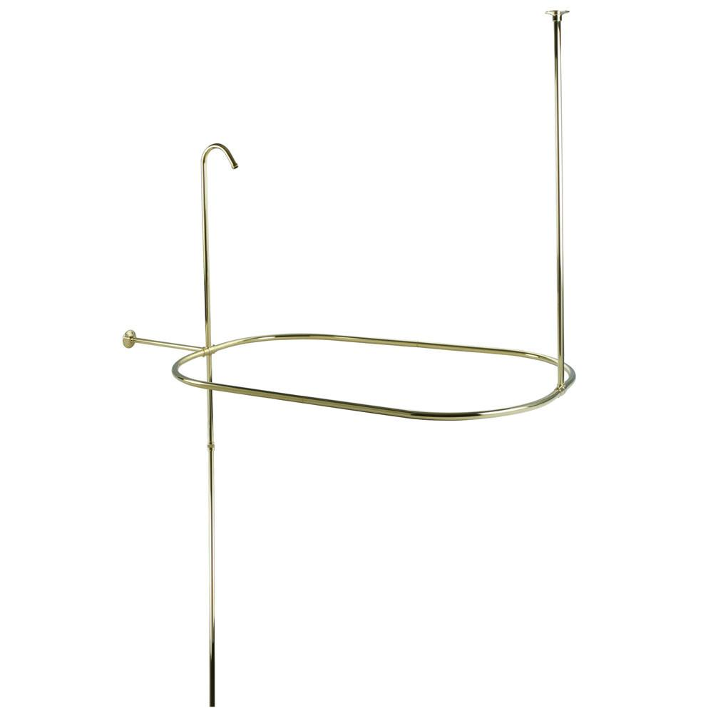 "Kingston Brass Polished Brass Shower Riser with Enclosure CC10402 42"" x 24"""