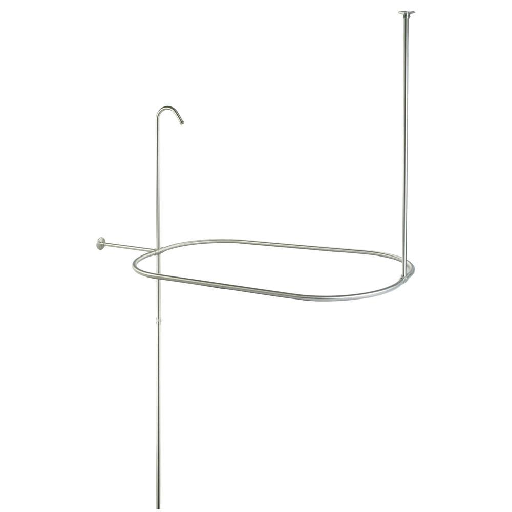 "Kingston Brass Satin Nickel Shower Riser with Enclosure CC10408 42"" x 24"""
