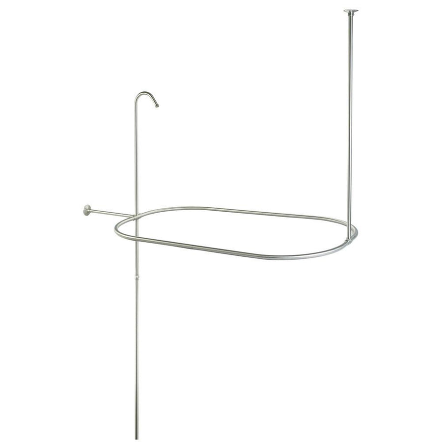 Kingston Brass Satin Nickel Shower Riser With Enclosure CC10408 42