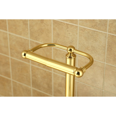 Kingston Brass Polished Brass pedestal freestanding Toilet Paper Holder CC2002