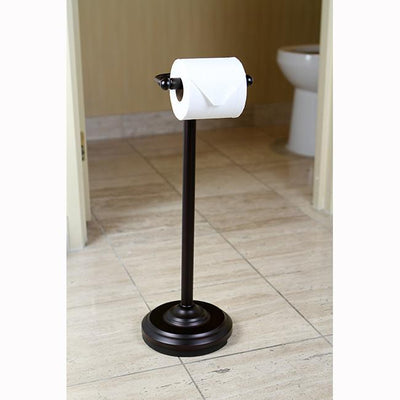 Kingston Oil Rubbed Bronze pedestal freestanding Toilet Paper Holder CC2005
