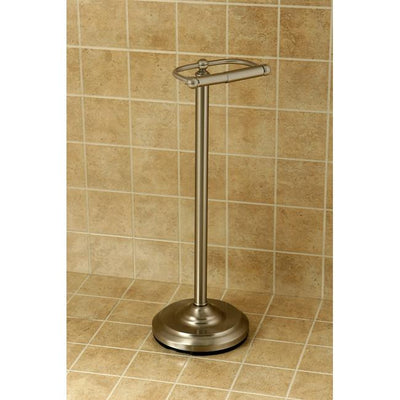 Kingston Brass Satin Nickel pedestal freestanding Toilet Paper Holder CC2008