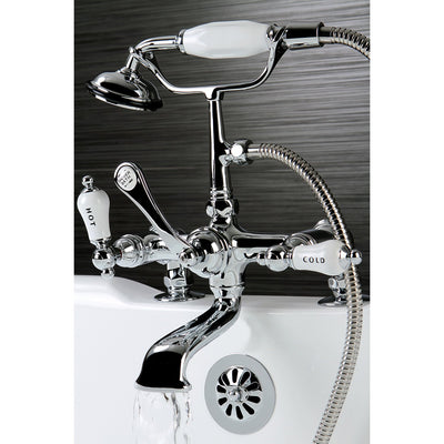Kingston Brass Chrome Deck Mount Clawfoot Tub Faucet w hand shower CC208T1