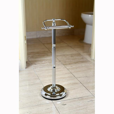 Kingston Brass Chrome Georgian pedestal free standing toilet paper holder CC2101