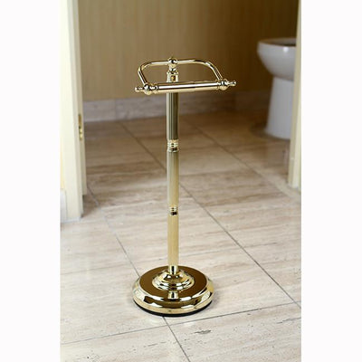 Polished Brass Georgian pedestal free standing toilet paper holder CC2102