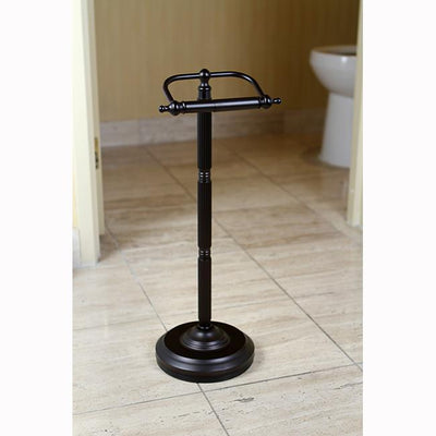 Oil Rubbed Bronze Georgian pedestal free standing toilet paper holder CC2105