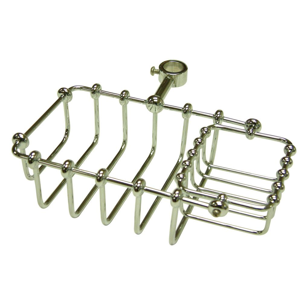 "Kingston Brass Chrome 7"" Shower Riser Mount Soap Basket CC2141"