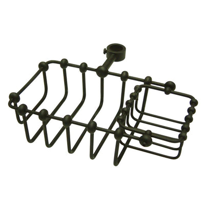 "Kingston Brass Oil Rubbed Bronze 7"" Shower Riser Mount Soap Basket CC2145"