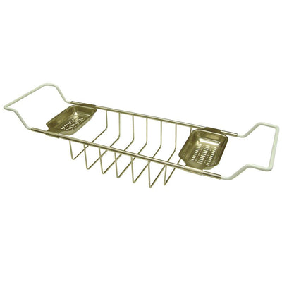 Kingston Brass Satin Nickel Clawfoot Tub Bath Tub Shelf Soap Caddy CC2158
