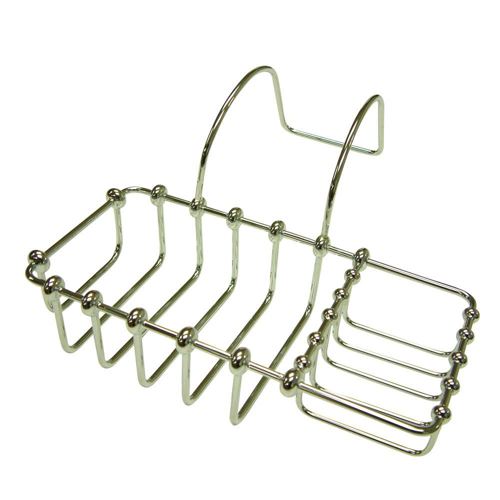 "Kingston Brass Chrome 8"" Clawfoot Bath Tub Soap Caddy Shelf CC2161"