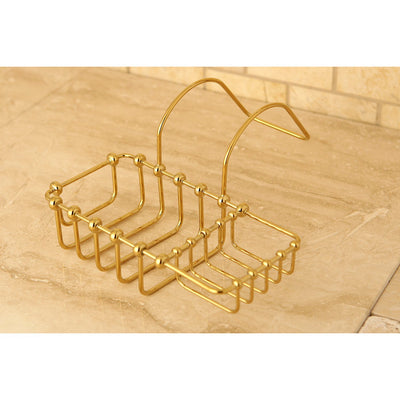"Kingston Brass Polished Brass 8"" Clawfoot Bath Tub Soap Caddy Shelf CC2162"
