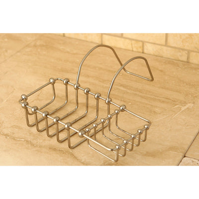 "Kingston Brass Satin Nickel 8"" Clawfoot Bath Tub Soap Caddy Shelf CC2168"