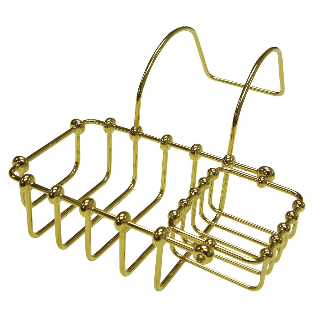 "Kingston Brass Polished Brass 7"" Clawfoot Bath Tub Soap Caddy Shelf CC2172"