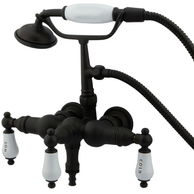 Kingston Oil Rubbed Bronze Wall Mount Clawfoot Tub Faucet w Hand Shower CC21T5