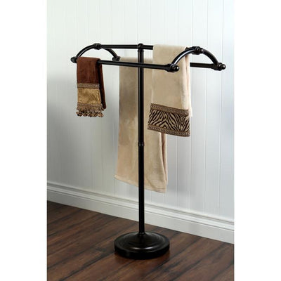 Kingston Oil Rubbed Bronze pedestal freestanding Round Plate Towel Rack CC2275