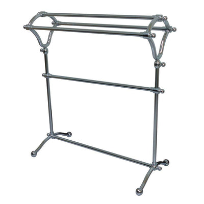 Kingston Brass Chrome pedestal freestanding Y-Type Towel Rack CC2281