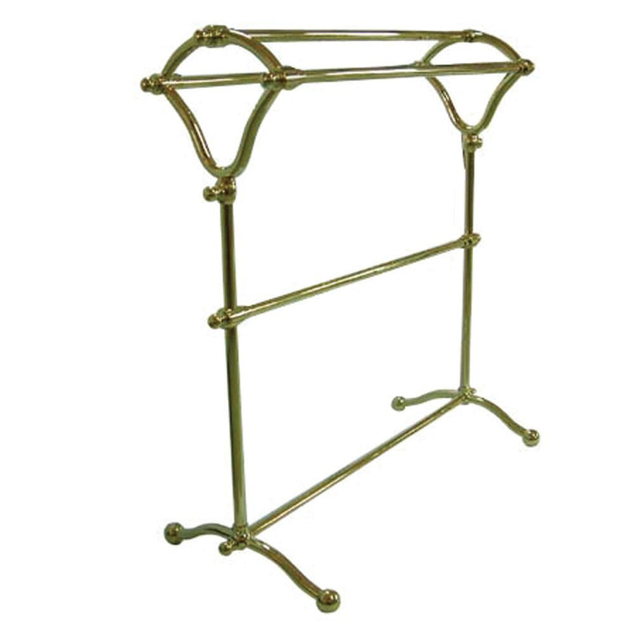 kingston brass polished brass pedestal ytype towel rack cc2282