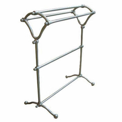 Kingston Brass Satin Nickel pedestal freestanding Y-Type Towel Rack CC2288