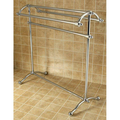 Kingston Brass Chrome Sturdy Heavy Large Pedestal freestanding Towel Rack CC2291