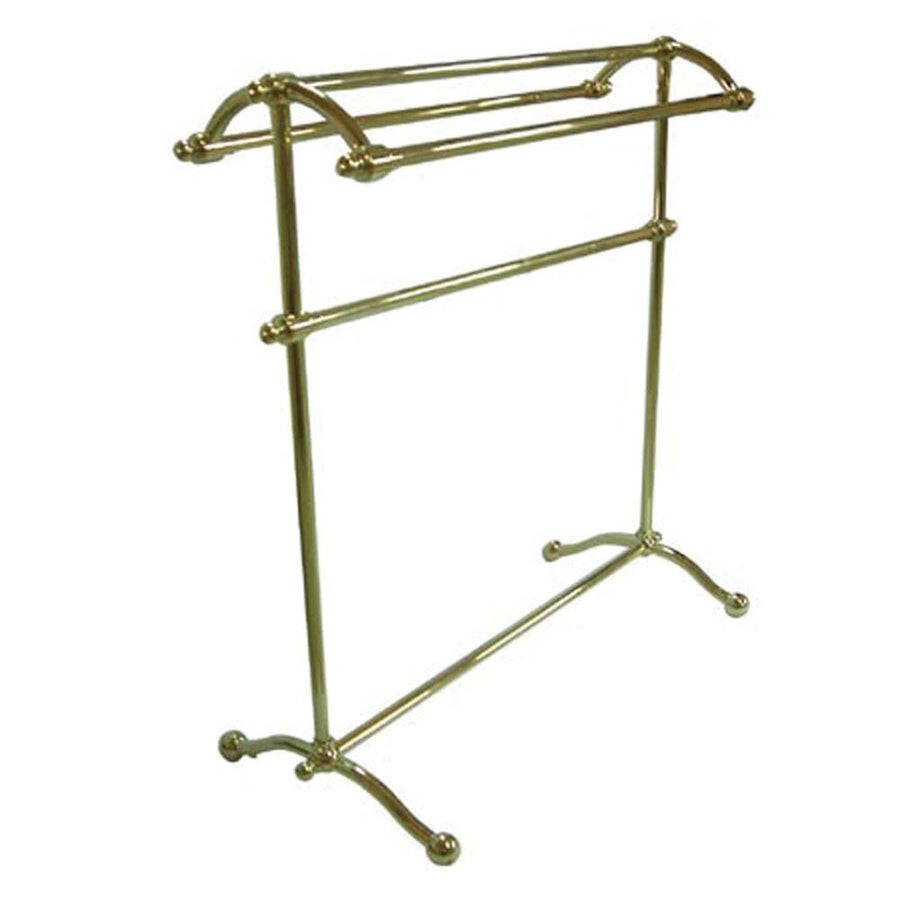 kingston polished brass sturdy large pedestal towel rack cc2292