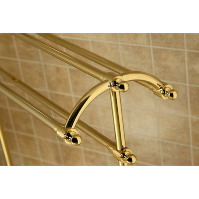 Kingston Polished Brass Sturdy Large Pedestal freestanding Towel Rack CC2292