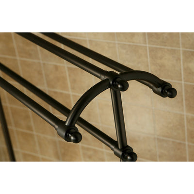 Kingston Oil Rubbed Bronze Sturdy Large Pedestal freestanding Towel Rack CC2295