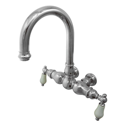 Kingston Brass Chrome Wall Mount Clawfoot Tub Filler Faucet CC3006T1
