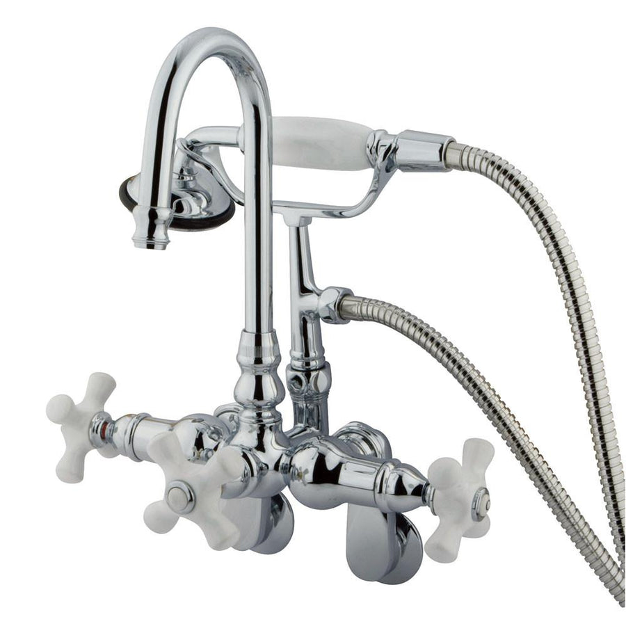 Clawfoot Tub Faucet Tub Filler Faucets For Freestanding Bathtubs - Wall mount clawfoot tub faucet handheld shower