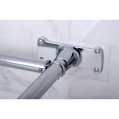 Kingston Brass Chrome Shower Enclosure D-Type Shower Rod CC3131