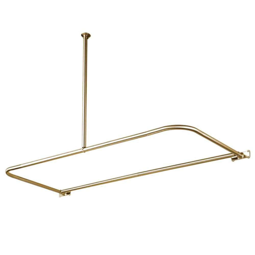 Kingston Brass Satin Nickel Shower Enclosure D-Type Shower Rod CC3138