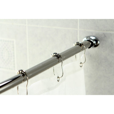 Kingston Brass Chrome Vintage Adjustable Hotel Curved Shower Rod CC3171