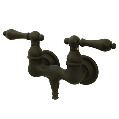 Kingston Brass Oil Rubbed Bronze Wall Mount Clawfoot Tub Faucet CC31T5