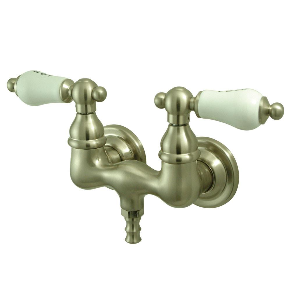 Kingston Brass Satin Nickel Wall Mount Clawfoot Tub Filler Faucet CC33T8