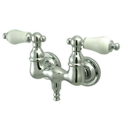 Kingston Brass Chrome Wall Mount Clawfoot Tub Filler Faucet CC34T1