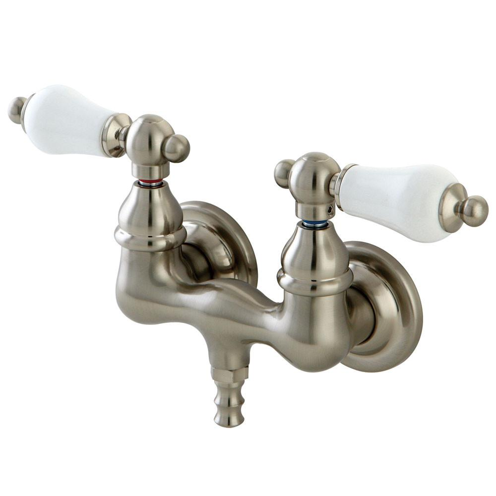 Kingston Brass Satin Nickel Wall Mount Clawfoot Tub Filler Faucet CC35T8