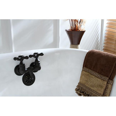 Kingston Brass Oil Rubbed Bronze Wall Mount Clawfoot Tub Filler Faucet CC37T5