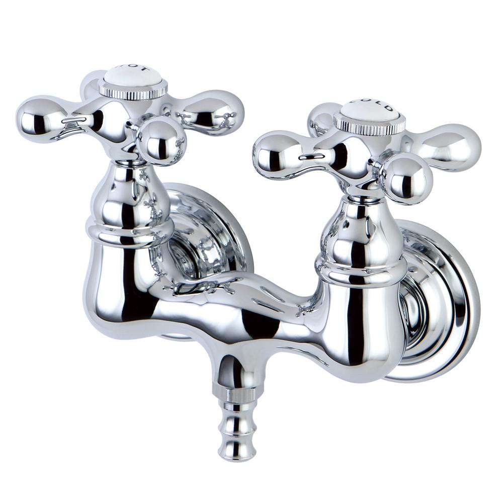 Kingston Brass Chrome Wall Mount Clawfoot Tub Filler Faucet CC38T1