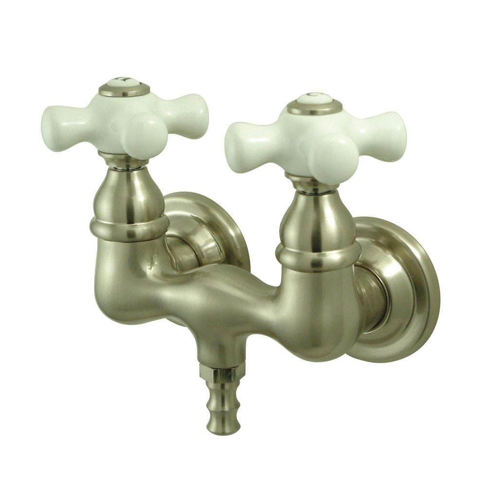 Kingston Brass Satin Nickel Wall Mount Clawfoot Tub Filler Faucet CC39T8