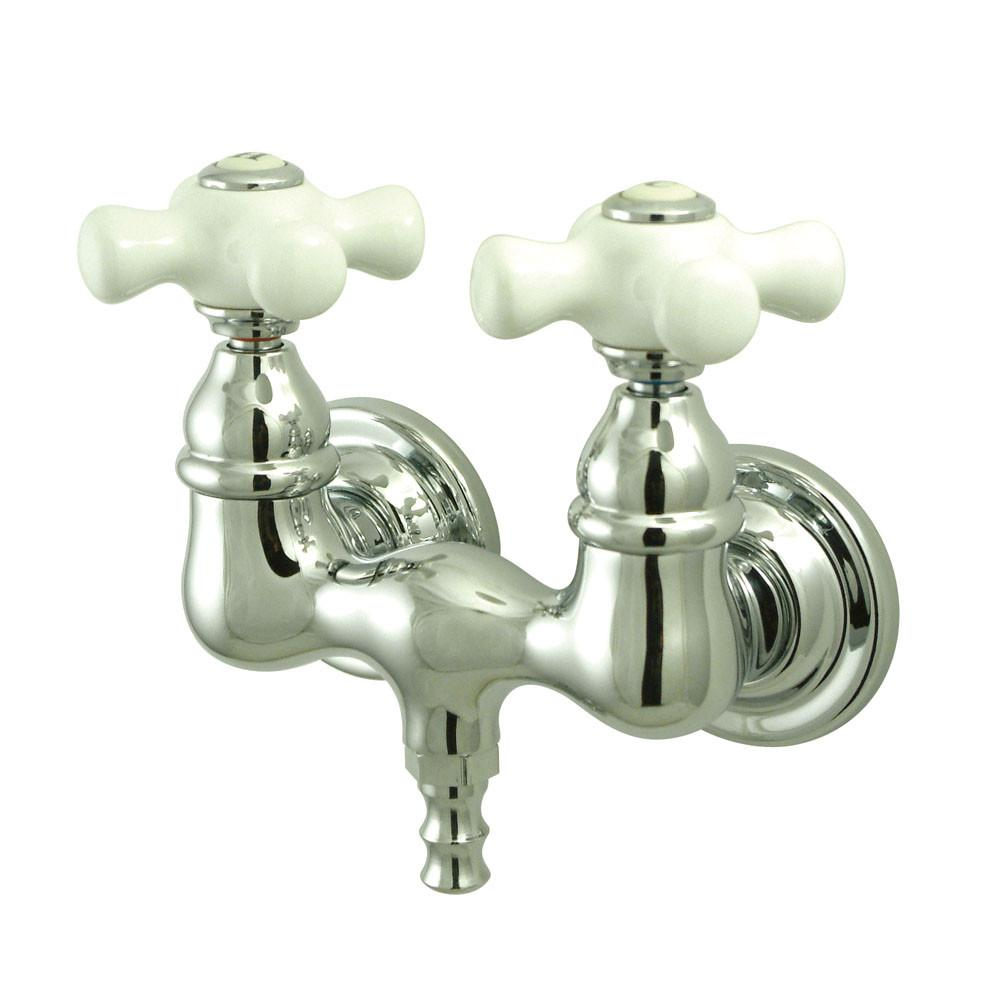 Kingston Brass Chrome Wall Mount Clawfoot Tub Filler Faucet CC40T1