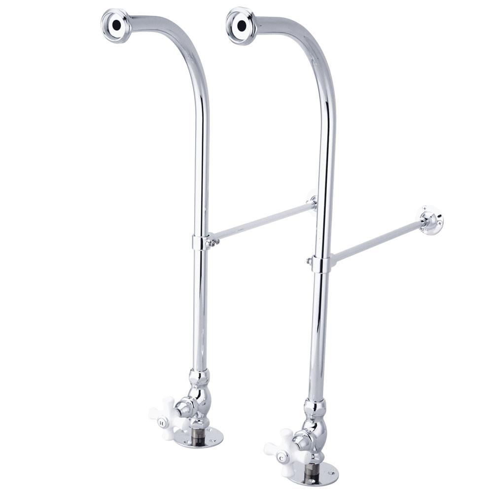 Kingston Brass Chrome Freestanding Bath tub Supply Lines with Stops CC451CX