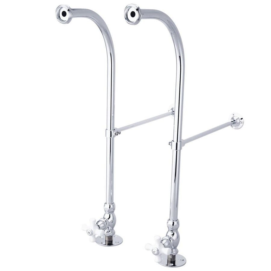 Supply lines for bathroom faucets - Kingston Brass Chrome Freestanding Bath Tub Supply Lines With Stops Cc451cx
