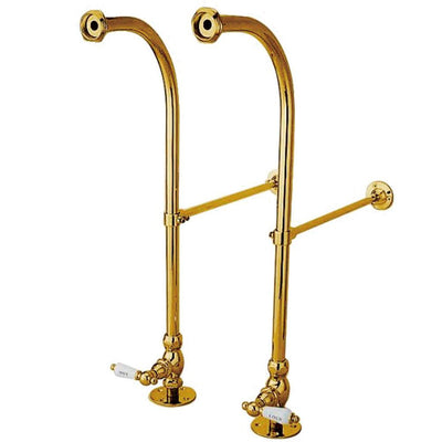 Kingston Polished Brass Freestanding Bath tub Supply Lines with Stops CC452HCL