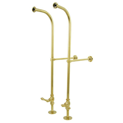 Polished Brass Freestanding Clawfoot Faucet Supply Lines w stops CC452ML