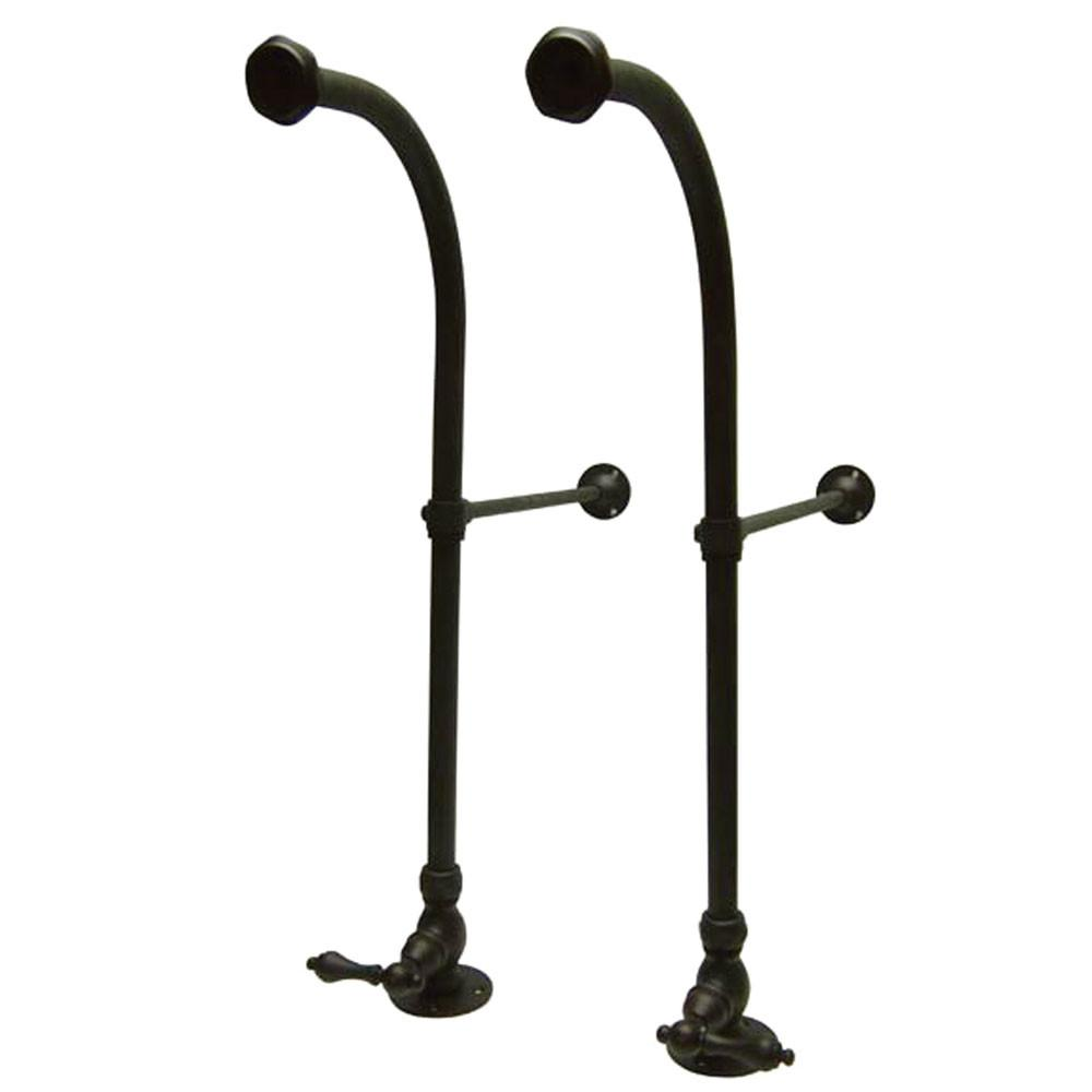 Kingston Oil Rubbed Bronze Freestanding Bath Supply Lines with stops CC455ML
