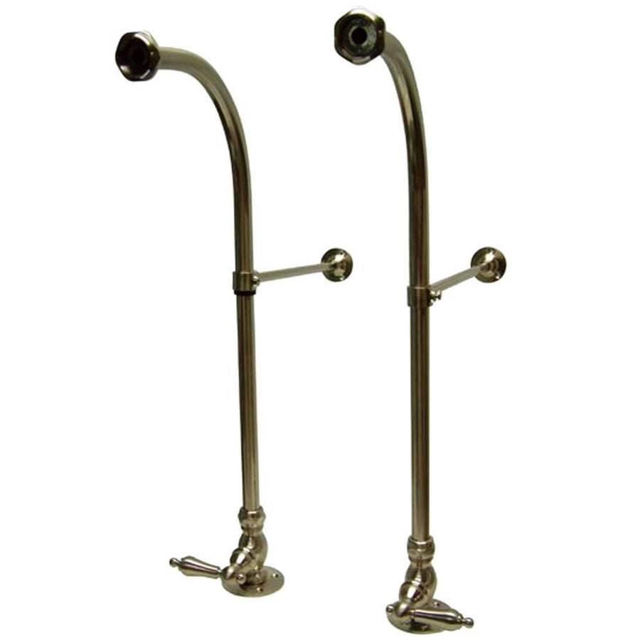Kingston Satin Nickel Freestanding Clawfoot Faucet Supply Lines W Stops  CC458ML