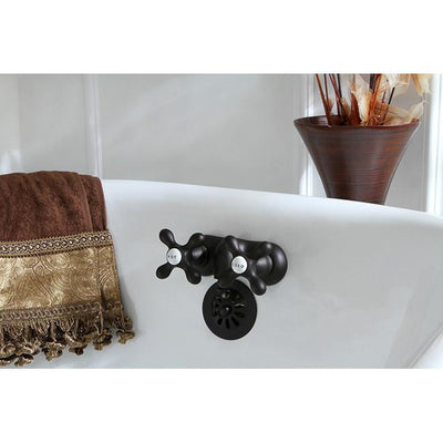 Kingston Brass Oil Rubbed Bronze Wall Mount Clawfoot Tub Faucet CC47T5